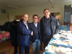 Van links naar rechts resp. Arjan, Henk en Arno