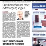 Algemeen Dagblad over ontsluiting Carnisselande