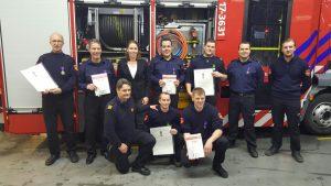 Hanke Bruins Slot met vrijwillige brandweer Barendrecht