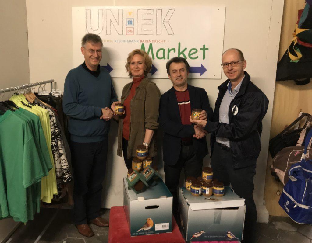 CDA bestuursleden Jilles van der Stoep en Arjan Sullock Enzlin bezochten Ariana Verdoorn en Niko Petrji van UnieK.