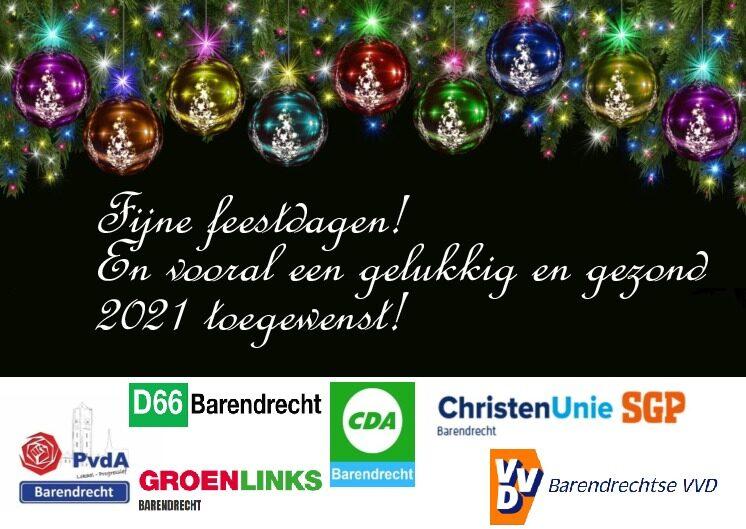Coalitiepartijen delen attentie en kerstgroet uit