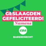 CDA feliciteert geslaagden